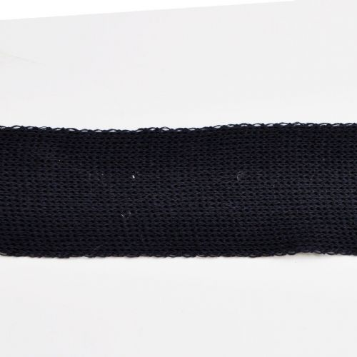 Navy 6 cm Knitted Rib tape by the metre 50% Cotton 50% Linen